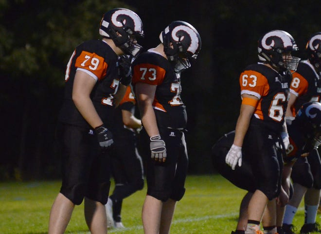 Harbor Springs' offensive line should be the strong point of the Rams, with Levi Keely (79), Quintin Alonzi (73), Noah Bosker (63) and others back up front.
