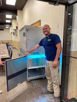 James Kiessling of M2 Mechanical, an Exeter company which is holding a drawing to give away a free air filtration unit to a local nonprofit. Deadline to apply is Sept. 1.