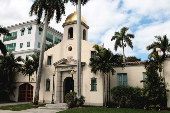 The old Boca Raton Town Hall, 71 N. Federal Highway, Boca Raton. It opened in April 1927.