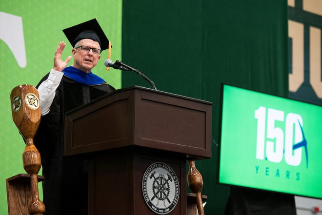 John Warmack of Texarkana, Arkansas, told graduates of Missouri University of Science and Technology Saturday, July 31, during a special summer commencement ceremony.