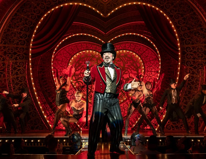 """Danny Burstein and the cast of """"Moulin Rouge! The Musical"""" reopen on Broadway Sept. 24 at the Al Hirschfeld Theater in New York."""