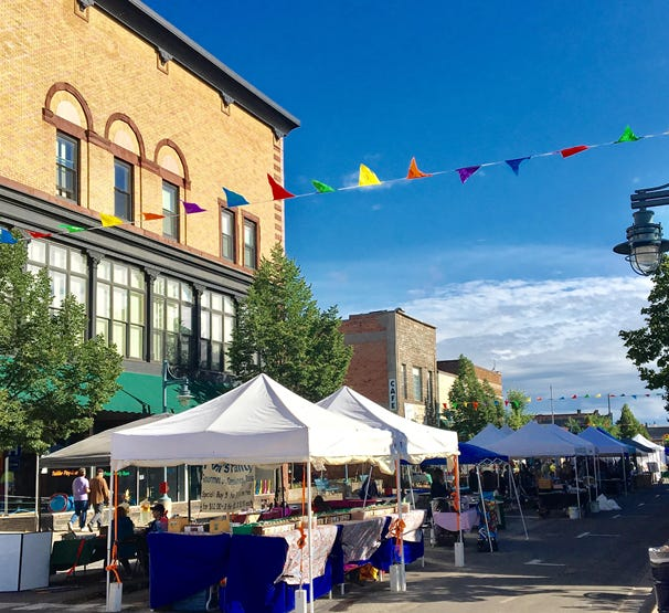 A photo of a previous year's Sidewalk Sales event, which is hosted in downtown Sault Ste. Marie.
