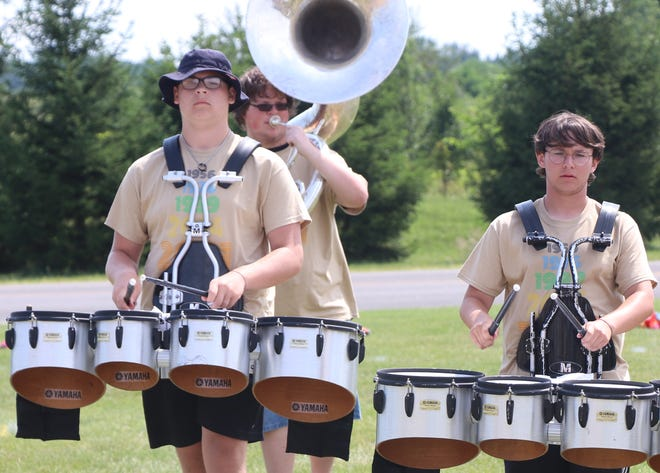 Sturgis High School's marching band concluded its preseason camp July 31 with a public performance at the practice field.