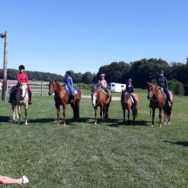 Somerset County Youth Horse Leaders held a horse show and education day July 30 at the Somerset Saddle Club. Some of the exhibitors included Alayna Weighley, 14, on Daisy; Macy Miller, 5, on Gypsy; Daisey Herring, 4, on Chopper; Gracelyn Friedline, 6, on Maple Sausage and Arabella Friedline, 11, on Sheik by Holly. For more information on the county horse program, contact Lynne Darr at 814-442-8602