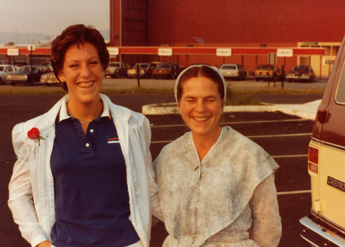 Patty Bear, left, stands with her mother Gale Bear before heading to Colorado Springs, Colo., to the Air Force Academy.