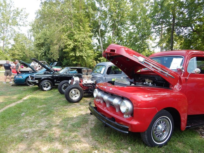 Several antique and classic cars were on display at the July 24 Barnyard Car Show in French Lick.