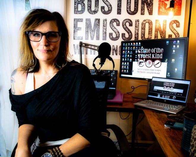 """Anngelle Wood is the host of the radio show """"Boston Emissions"""" and the podcast """"Crime of the Truest Kind."""""""