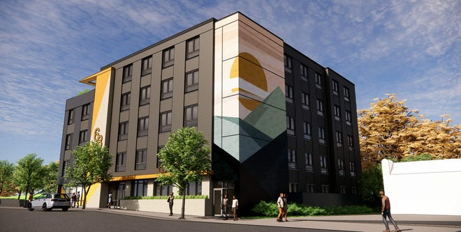 Plans on file with the city show 80 new microhousing units in a five-story building planned for Hilliard Avenue downtown.