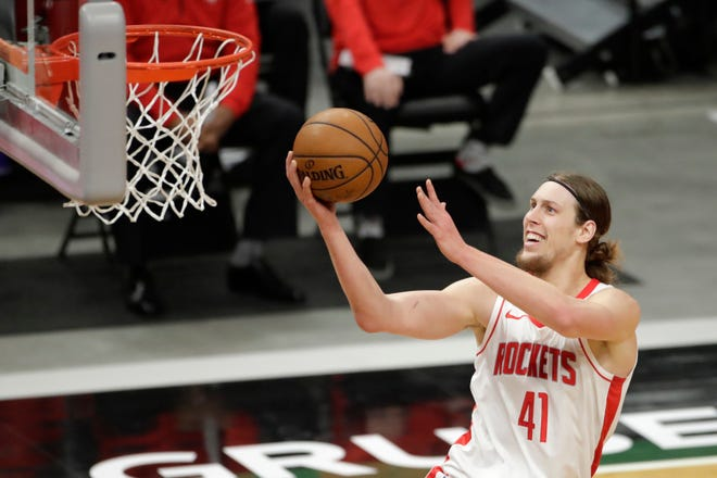 Kelly Olynyk split time with the Heat and Rockets last season, averaging 13.5 points and seven rebounds over 70 games.