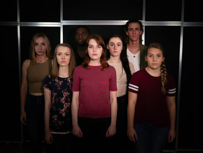 """A publicity photo for Florida Rep's """"Bulletproof Backpack"""""""