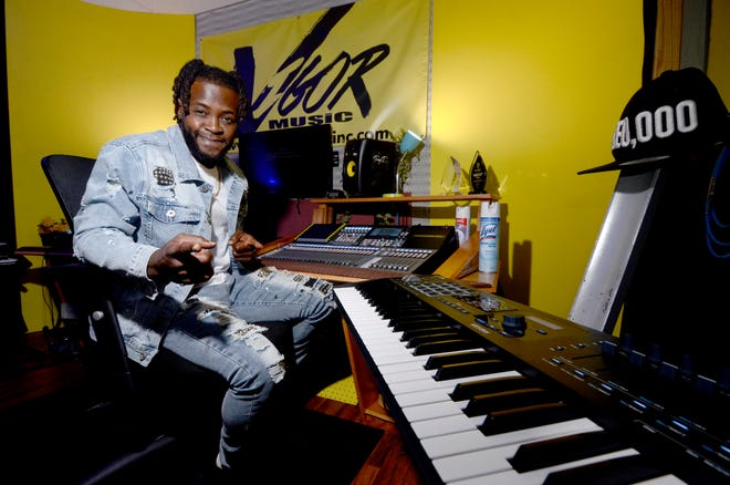 Antonio 'Tony T.' Turner poses for a portrait in his recording studio in McComb, Miss., on Tuesday, July 20, 2021. Turner is the brains behind the music of some of the hottest Southern soul artists.