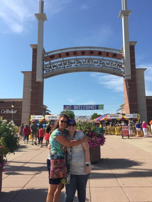 Sarah Kramlik enjoys her traditional birthday outing to State Fair with her aunt, Sherry Meisenheimer, in 2017.