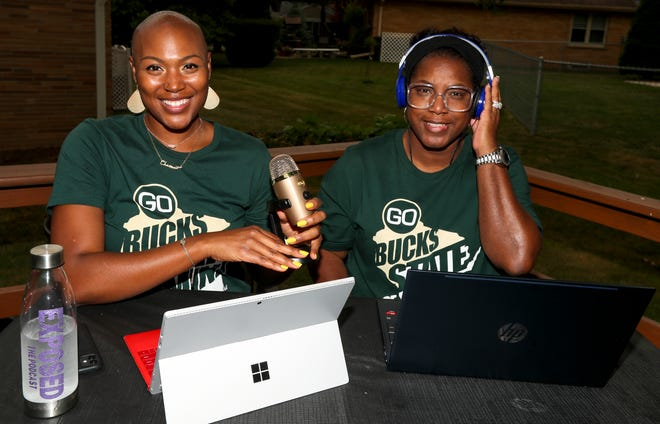"""Natalie Hayden and LaVerne Badger, who both experienced domestic violence,  created a podcast called """"EXPOSED The Podcast"""" that focuses on life after abuse. """"The podcast is about how we want other women to feel more secure about themselves and push through the fear,"""" Badger said. """"That's what keeps you there, that's what keeps you from growing, is the fear."""""""
