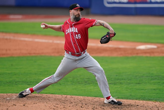 John Axford hasn't pitched in the major leagues since 2018 but played with Team Canada this summer.