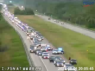 A crash is forcing westbound traffic on I-75 onto the shoulder about 10 miles east of Collier Boulevard