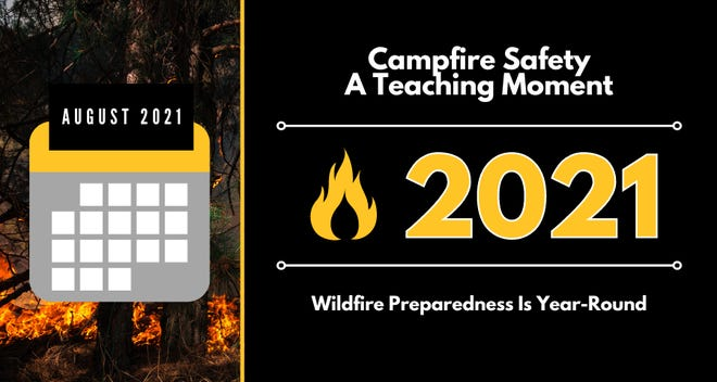While it's a perfect time to make lasting memories around the campfire with the kids, it's also an opportunity to teach them about wildfire safety.