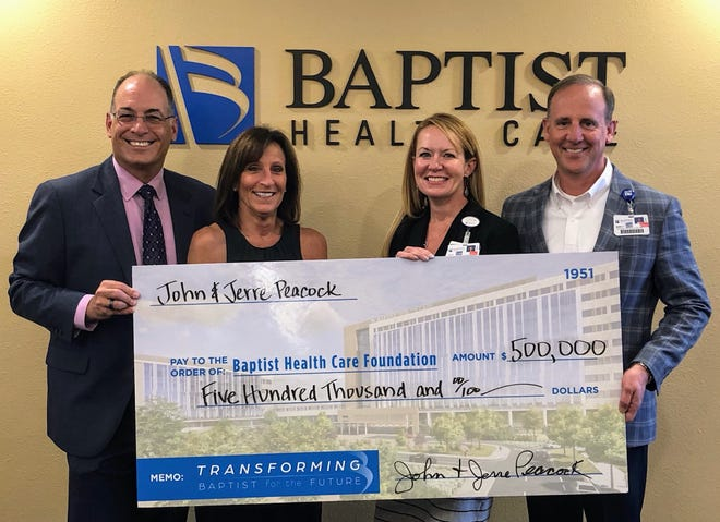 John and Jerre Peacock recently donated $500,000 to the Baptist Health Care Foundation.