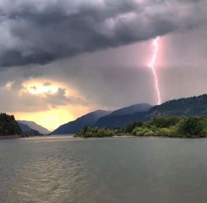 A lightning strike that ignited fires on the Middle Fork Ranger District in Willamette National Forest east of Eugene