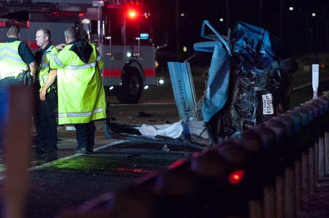 Wichita Falls police worked the scene of a fatal accident Sunday morning on the Henry S. Grace Freeway.