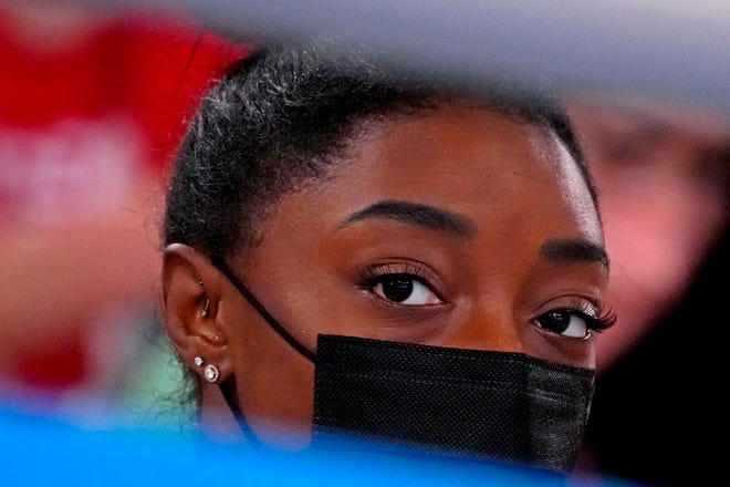 Simone Biles will compete in the balance beam final at the Olympic Games on Tuesday