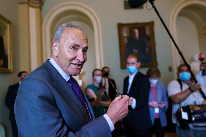 Senate Majority Leader Chuck Schumer, D.N.Y., put senators working on an infrastructure package based on talks between Republicans and Democrats.