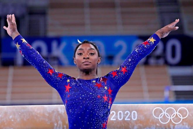 Gymnast Simone Biles.