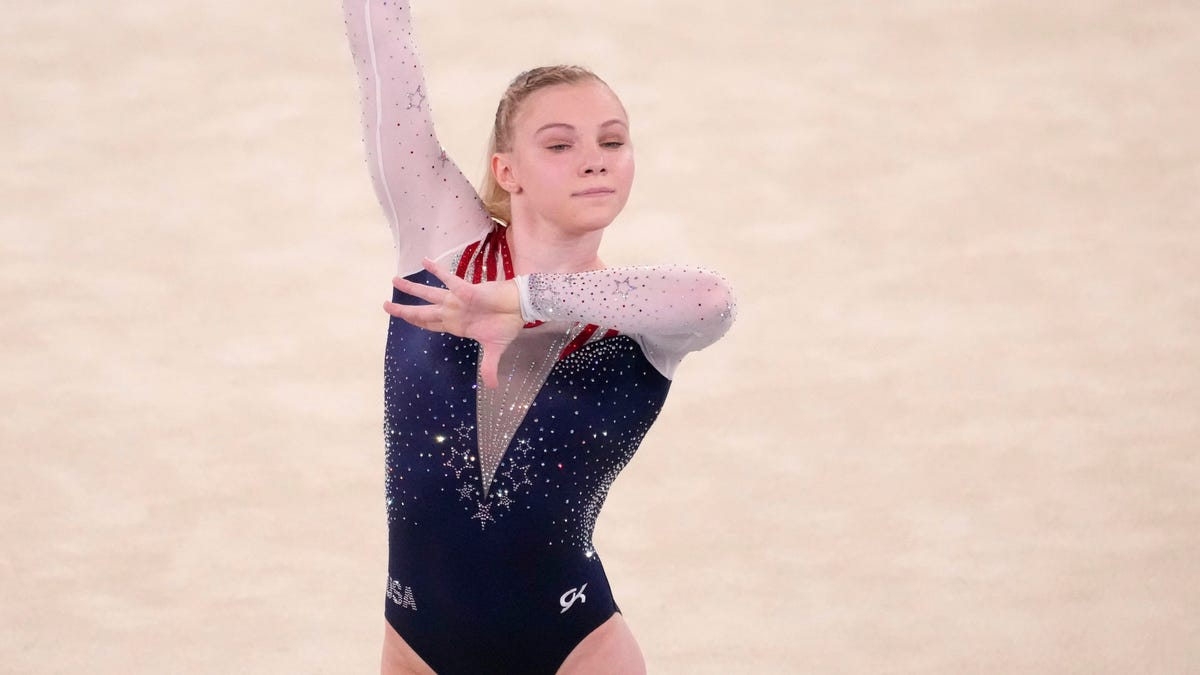 American Jade Carey takes gold in floor exercise at Tokyo Olympics