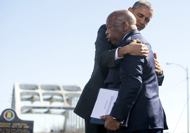 """The late congressman John Lewis said seeing Obama become president was """"almost too much"""" for him to witness in his lifetime."""