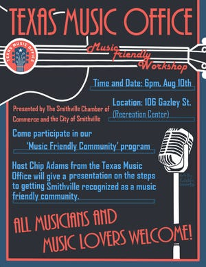 """The Smithville Area Chamber of Commerce, in partnership with the city of Smithville, is working to have Smithville designated a """"Music Friendly City"""""""