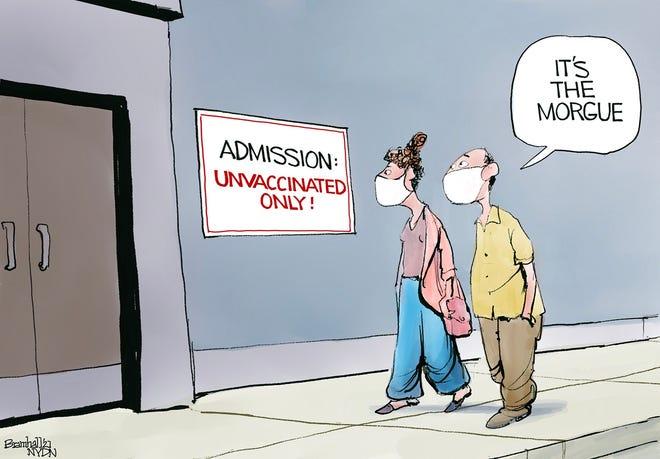 Cartoon by Bill Bramhall