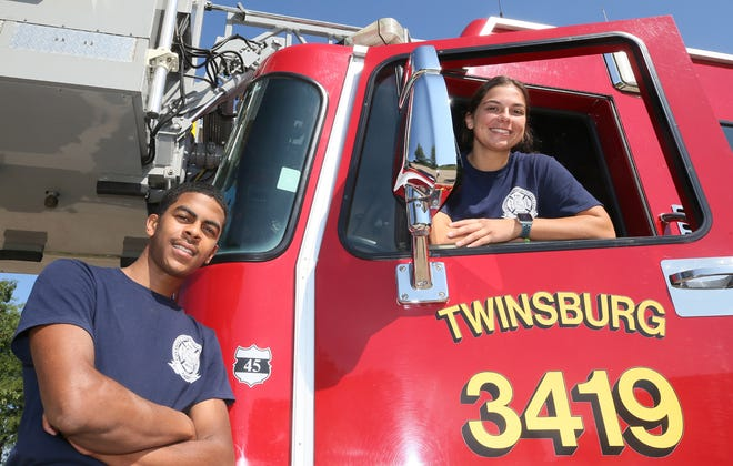 Troy Williams and Morgan Powers are Twinsburg's Fire Department's first cadets. The  pair recently graduated from the department's program, which is designed to develop the next generation of career firefighter/paramedic.