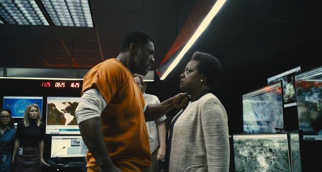 "Idris Elba plays Bloodsport and VIola Davis portrays Amanda Waller in the Warner Bros. action adventure ""The Suicide Squad."""