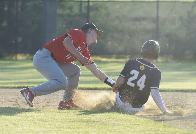 Shortstop Sam Petersen, an Iowa recruit, hit .458 with seven home runs, 16 steals and 32 runs against Raccoon River Conference competition in 2021.
