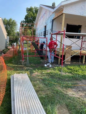"""During the first two weeks of August, """"Care-A-Vanners"""" from across the U.S. will be in Boone to aid the Heart of Iowa Habitat for Humanity's current build project: a house on Sixth St. in Boone."""