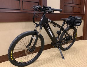 Pedego Electric Bikes' Ridge Rider is an electric mountain bike that travels 20 mph. One such bike, pictured here, was given special upgrades suited for police work and donated to North Augusta Public Safety.