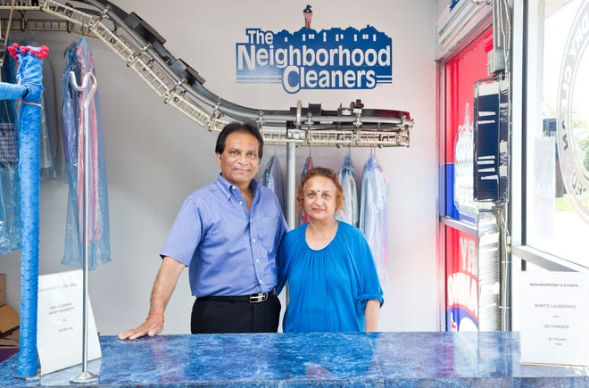 Hari and Uma Patel, owners of Neighborhood Cleaners, have had a rough year of declining business.