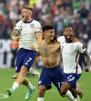 Gregg Berhalter, with standouts Paul Arriola (7), Miles Robinson (12) and Kellyn Acosta (23), became the first U.S. coach to beat Mexico twice in a row with trophies on the line.