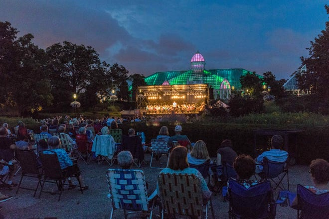 The ProMusica Chamber Orchestra performing at the Franklin Park Conservatory and Botanical Gardens in 2017.