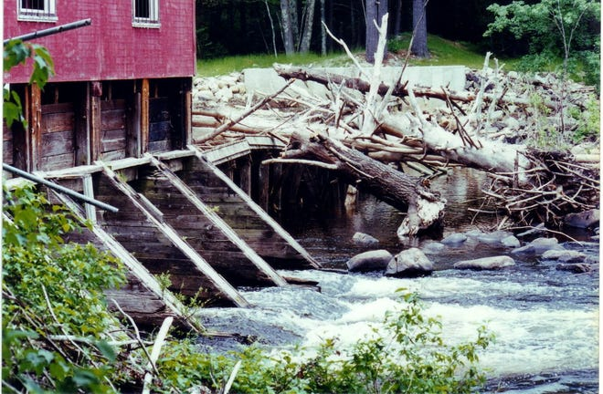 Mass Point Dam was demolished after a hurricane damaged it in 1996.
