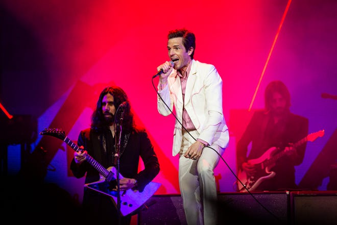 The Killers play PromoWest Pavilion at Ovation on Monday.