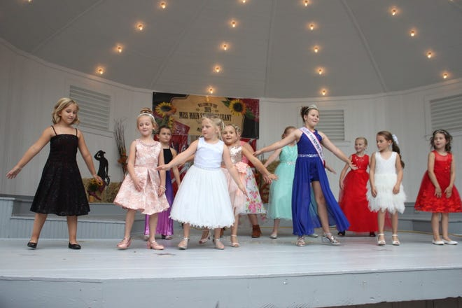 Miss Main Street Orion contestants dance in the Little Miss and Junior Miss pageant during the 2019 Orion Fall Festival. The 2021 pageant will be at 2 p.m. Saturday, Sept. 4, at the band shell in Central Park.