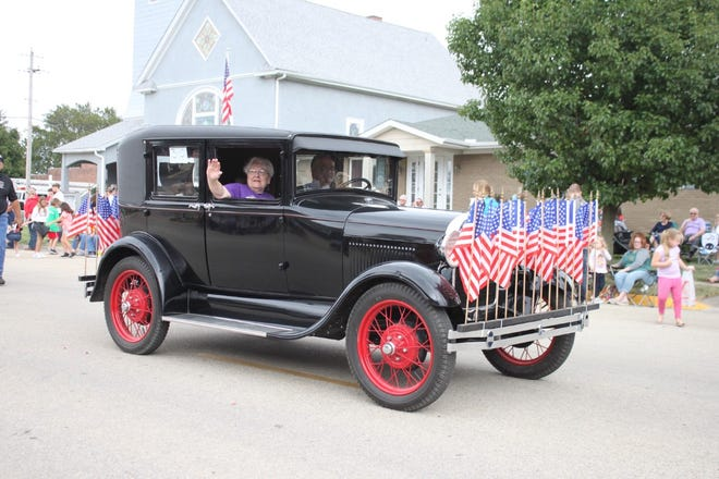 In the 2019 Orion Fall Festival parade, Betty Cramm's 1929 Model A Ford was named Most Impressive Vehicle. Her son Kurt was driving. The 2021 parade will begin earlier than usual, at noon Saturday, Sept. 4, and has a route change. See accompanying story for details
