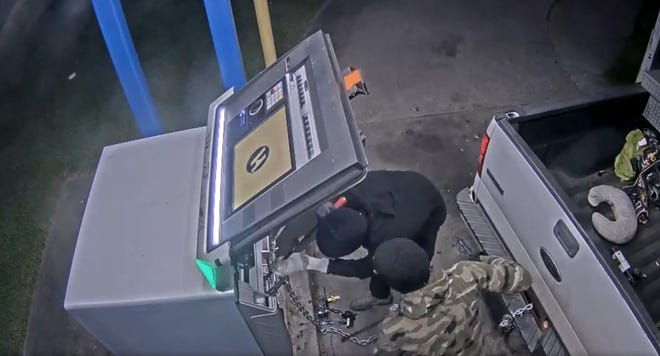 The Ascension Parish Sheriff's Office released surveillance video from the ATM location.