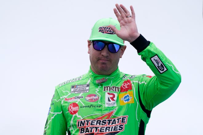 Kyle Busch at a NASCAR Cup Series auto race, Sunday, July 18, 2021, in Loudon, N.H.