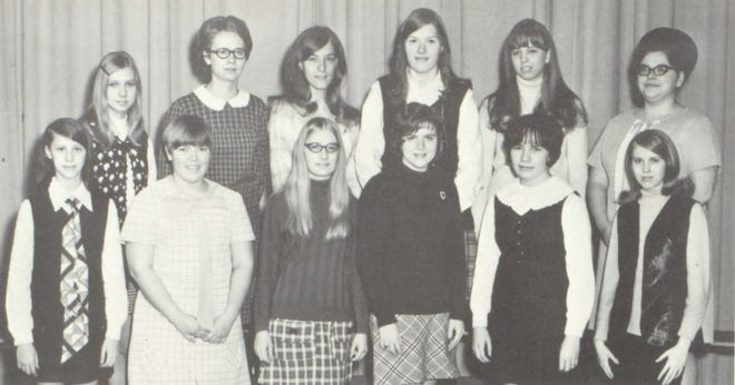 Pictures of the Past is from the 1970 Lincoln Community High School yearbook. It shows members of the Usherettes. First row from left: B. Schneider, D. Downing, S. Scheid, C. Harris, J. Jones and B. Schneider. Second row from left: S. Schaffenacker, L. Tutter,P. Stein, D. Zurkammer, D. Bree and M. Steffens. The organization is composed of sophomore, junior and senior girls whose membership is on a voluntary basis. The group is a public service and are at programs presented at the high school. Activities include plays, concerts, Baccalaureate and Commencement exercises.