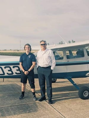 Alexander Strickland, of Eldon, upon completion of his checkride in May 2020.