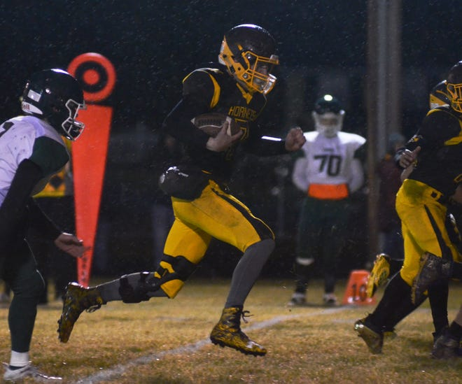Pellston quarterback Isaiah Crawford became a major breakout piece in 2020 and will return to the Hornet lineup this season.