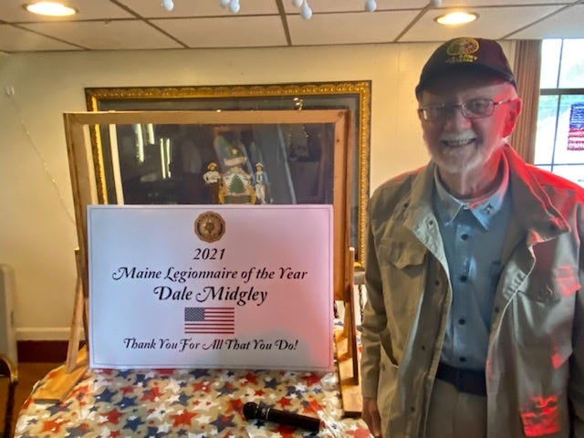 Dale Midgley of American Legion Post 19 has been named Legionnaire of the Year 2020-2021 for the state of Maine.