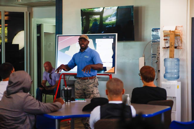 Gerald Hearns provides instruction during a session of the Student ACES Solar Boot Camp.