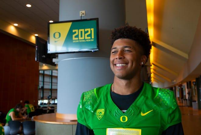 Oregon quarterback Robby Ashford joins the Oregon Media Day as the 2021 season begins.